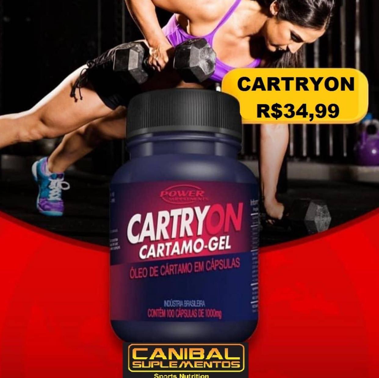 CARTRYON CARTAMO GEL POWER SUPLEMENTOS 100CAPS