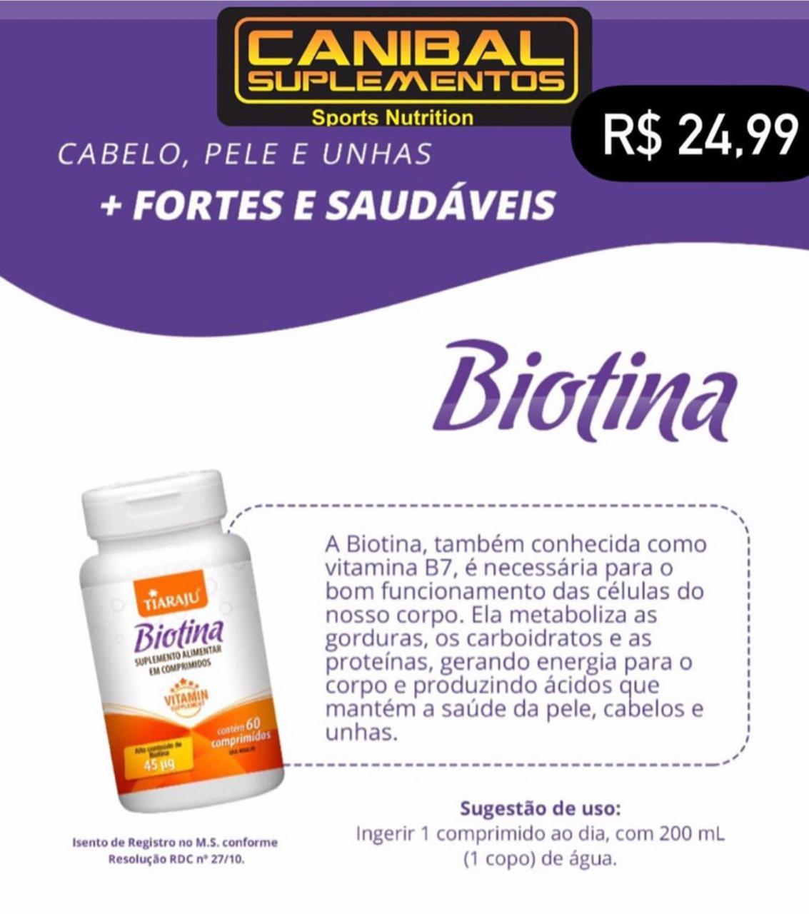 Biotina 60caps TIARAJU