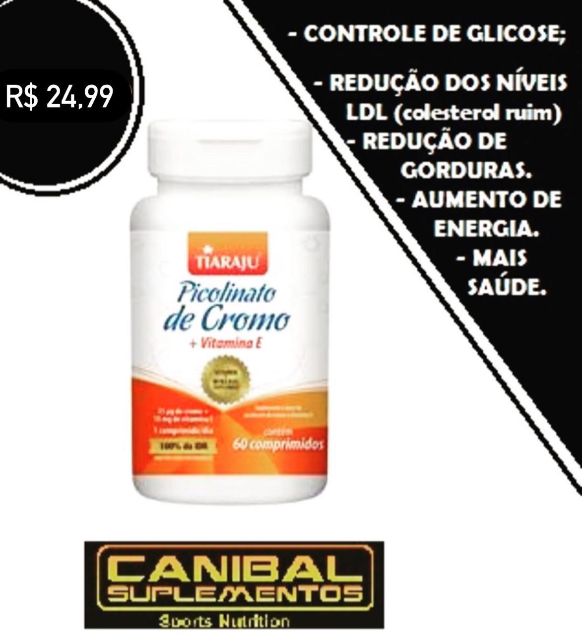 Picolinato de Cromo + Vitamina E 60caps TIARAJU